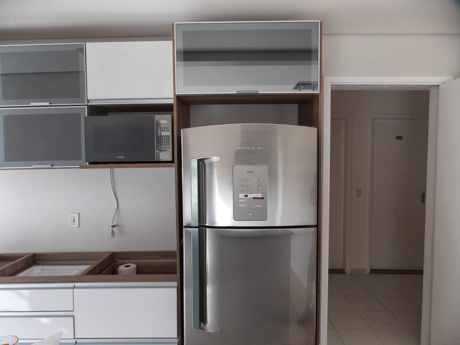Armario aereo de cozinha com nicho para armario para - Armario para microondas ...