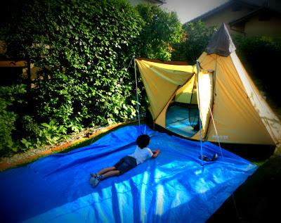 庭キャンプ