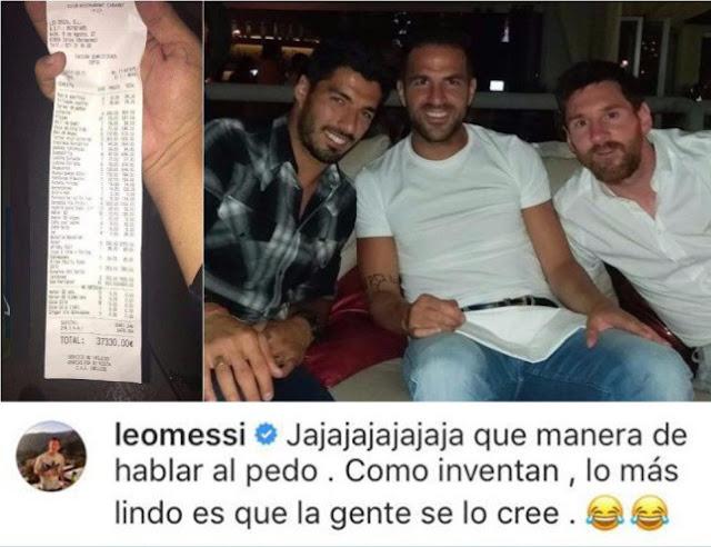 Leo Messi desmiente la factura de 37.000 euros en Ibiza