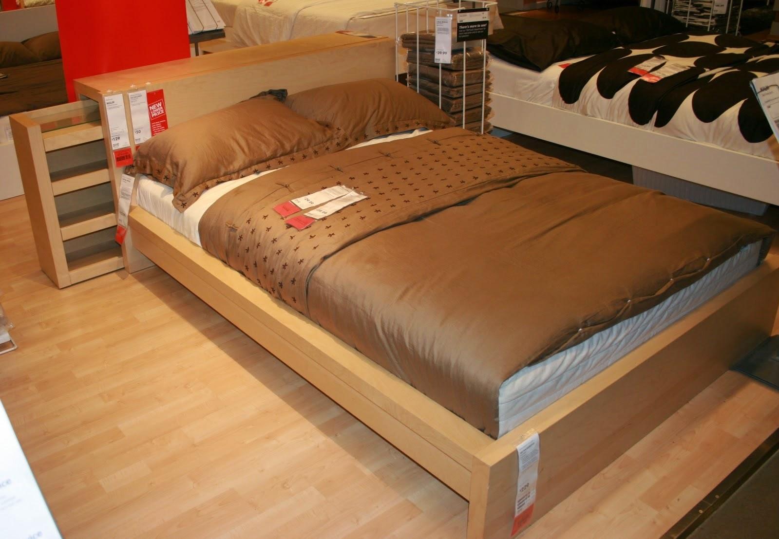 Ikea Malm Bed Headboard Storage