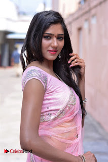 Telugu Actress Shalu Chourasiya Stills in Cute Pink Saree at Pochampally IKAT Art Mela  0013.jpg