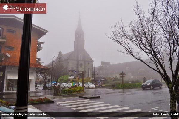 Frio e chuva em Gramado