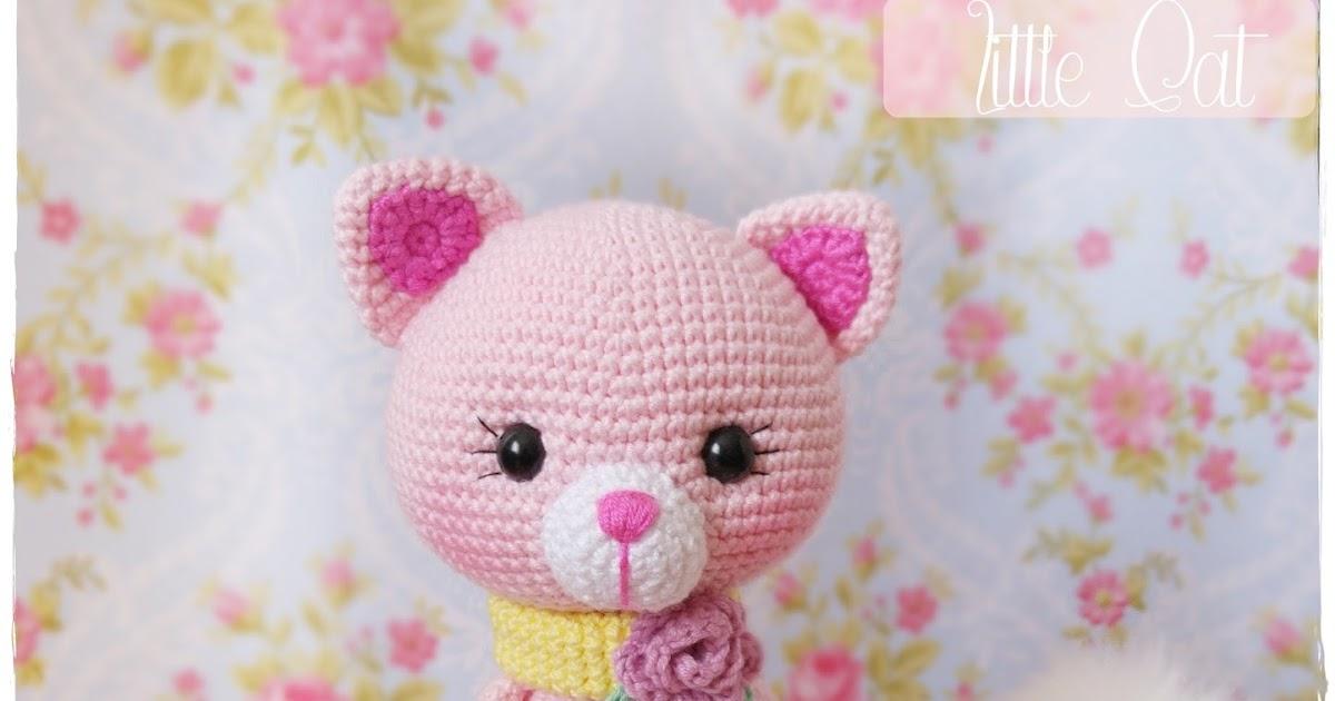 Amigurumi Hayvan Yapimi : Amigurumi Pembe Kedicik- Amigurumi Pink Cat Tiny Mini Design
