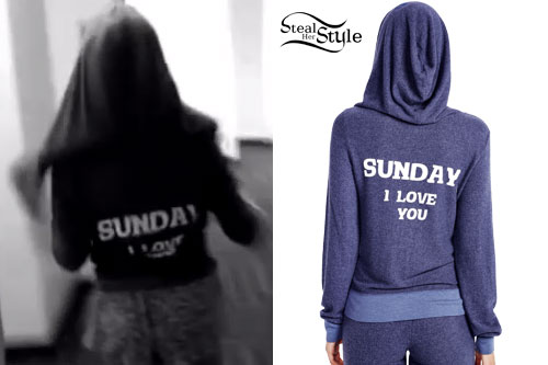 Ariana Grande: 'Sunday I Love You' Hoodie.