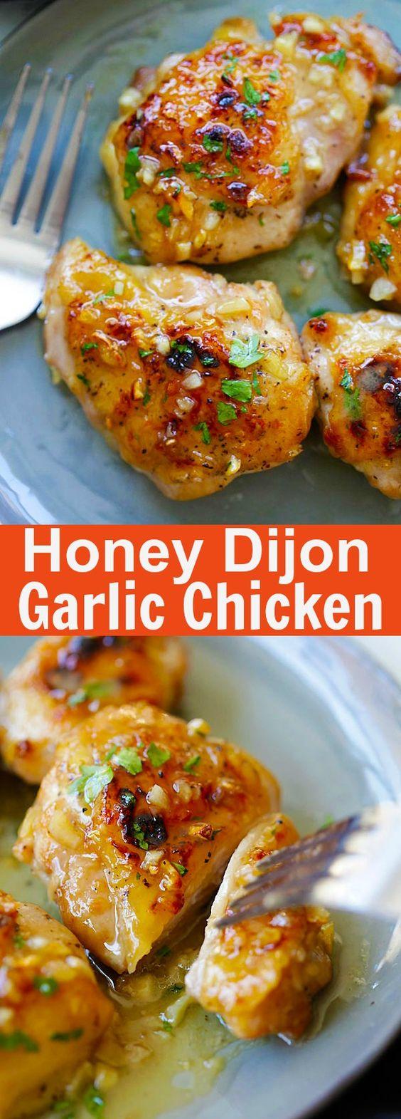 Amazing Honey Dijon Garlic Chicken Recipe