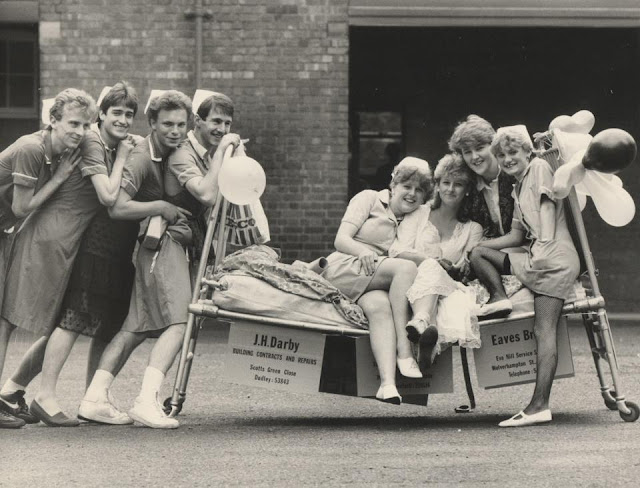 madmumof7 as a teenager doing charity bed push