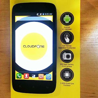 Cloudfone retails Excite 450q below 5,000 pesos
