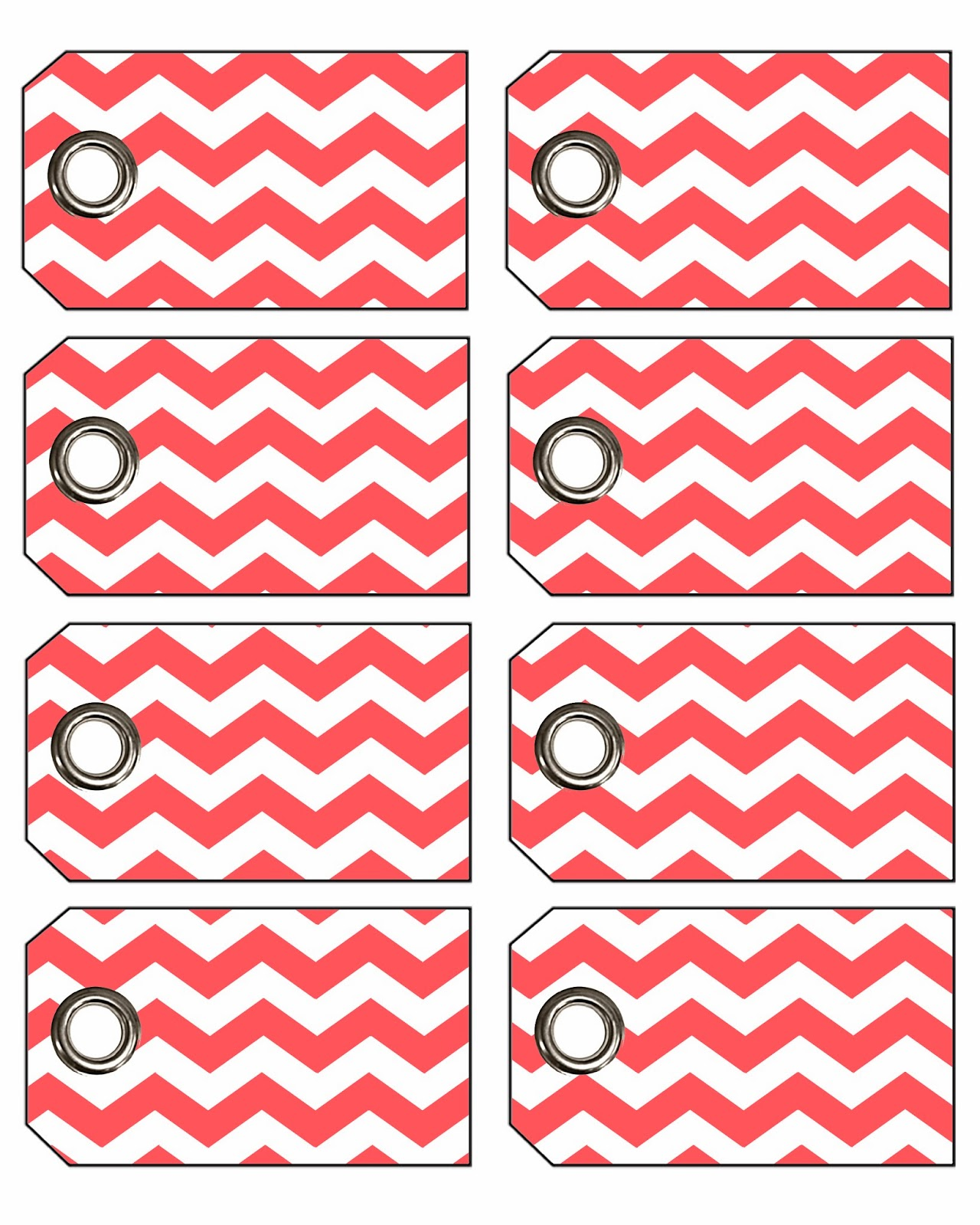 Freebie Week Chevron Gift Tags With Eyelets