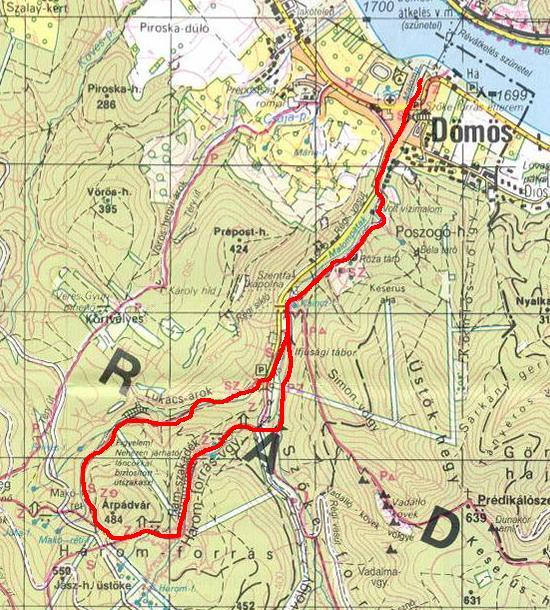 dömös térkép Sothy túranaplója: 2009.05.23.   PILIS III.   Rám szakadék ( Dömös  dömös térkép
