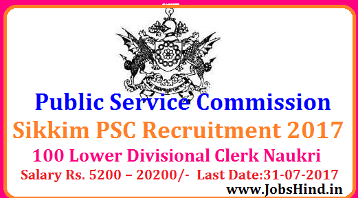 PSC Recruitment 2017