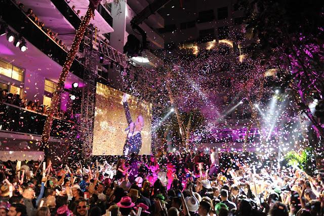 Ano-novo nas baladas de Miami