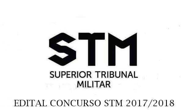 Edital STM 2017 Concurso Analista e Técnico Judiciário