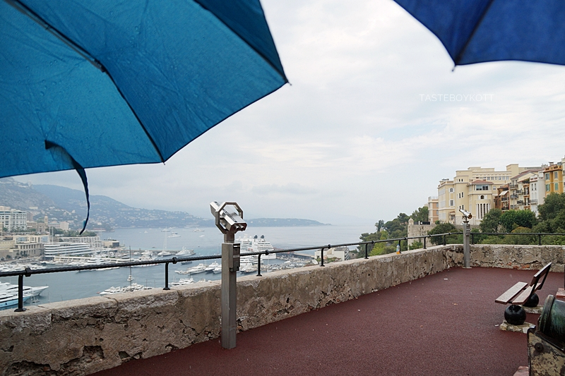 View from grimaldi palace Monaco on a rainy day