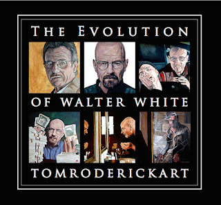 Evolution of Walter White by Boulder portrait artist Tom Roderick