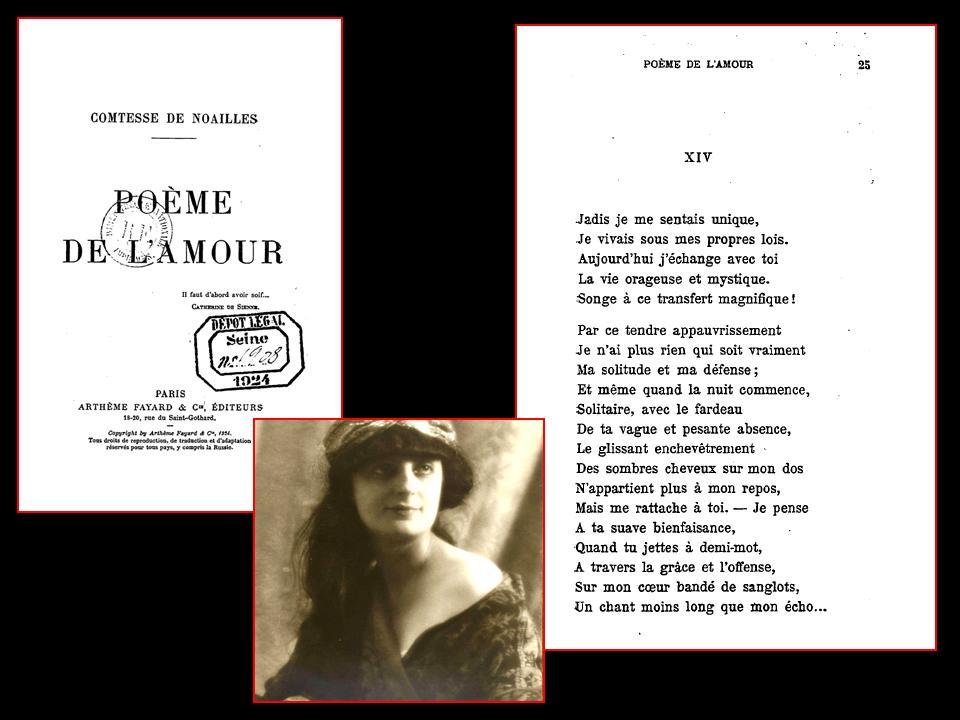Anna De Noailles 650 Poème De Lamour 1924