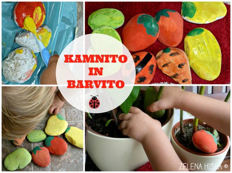 pobarvani kamni - vrtni označevalci