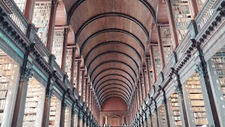 Old Library at Trinity College Dublin Ireland