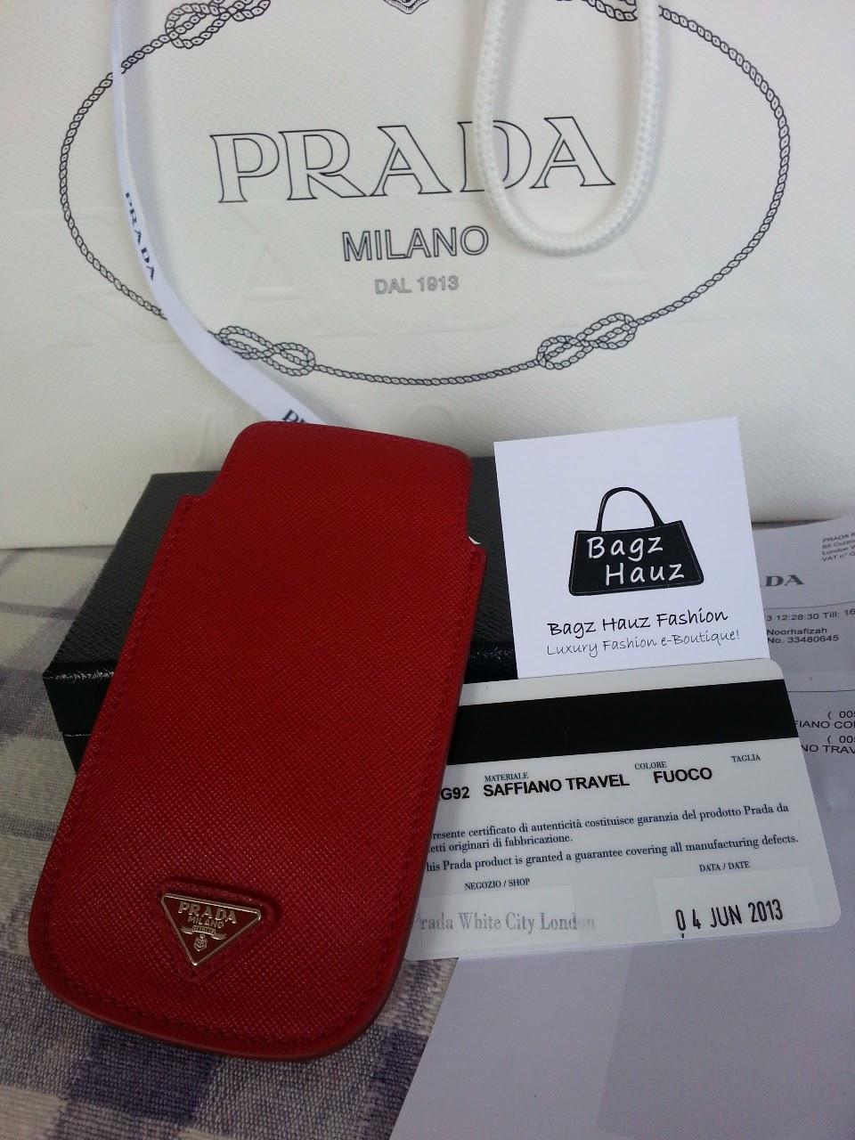 f4f7c3c1a8fb PRADA iPhone 5 Saffiano Leather Case ~ For Affy ~