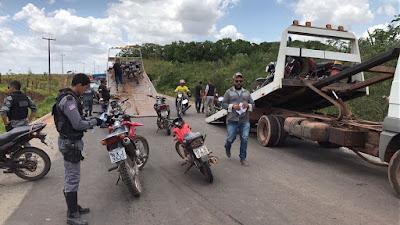 Operação conjunta apreende mais de 40 motocicletas no interior do MA