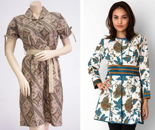 Model Baju Batik Kerja Atasan Muslim: 15+ Trend Contoh Gambar Model Baju Dress Paling Banyak