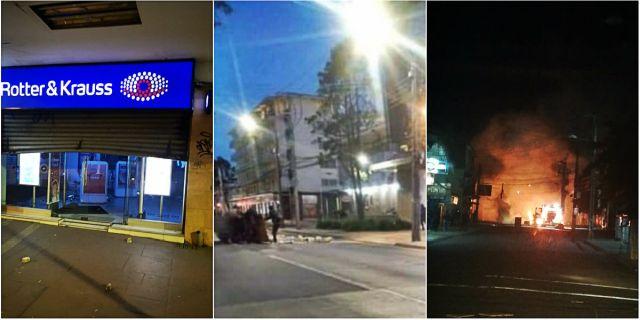 Osorno: Locales forzados y barricadas incendiarias