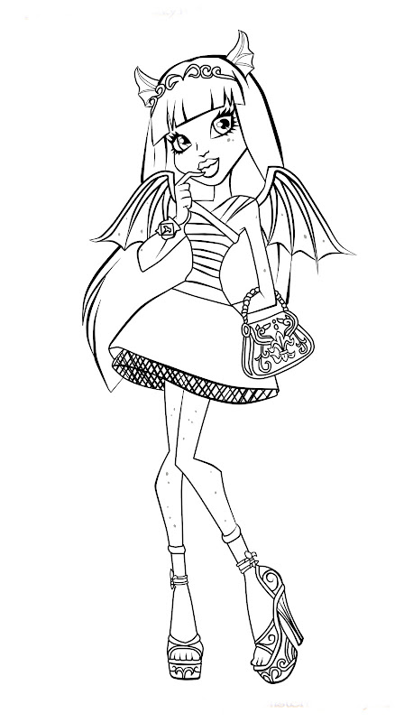 Monster high character coloring pages best coloring for Monster high coloring pages all characters