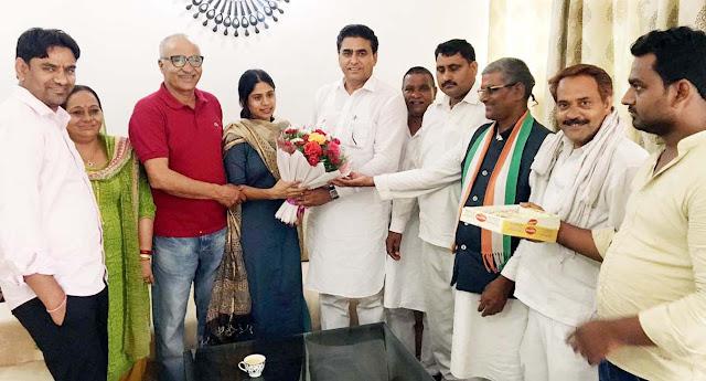 lalit-nagar-awarded-to-ias-topper-kiran-bhadana-pali-village-faridabad