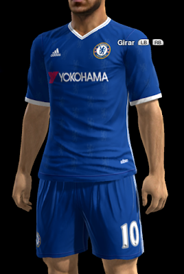 PES 2013 Chelsea FC Home Kit v2 2016-2017 by Strex-Kitmaker