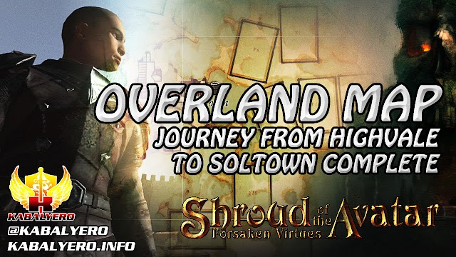 Overland Map ★ Journey From Highvale To Soltown Complete ★ Shroud of the Avatar Gameplay 2016