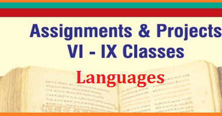 languages cce assignments and projects for 6th to 9th classes