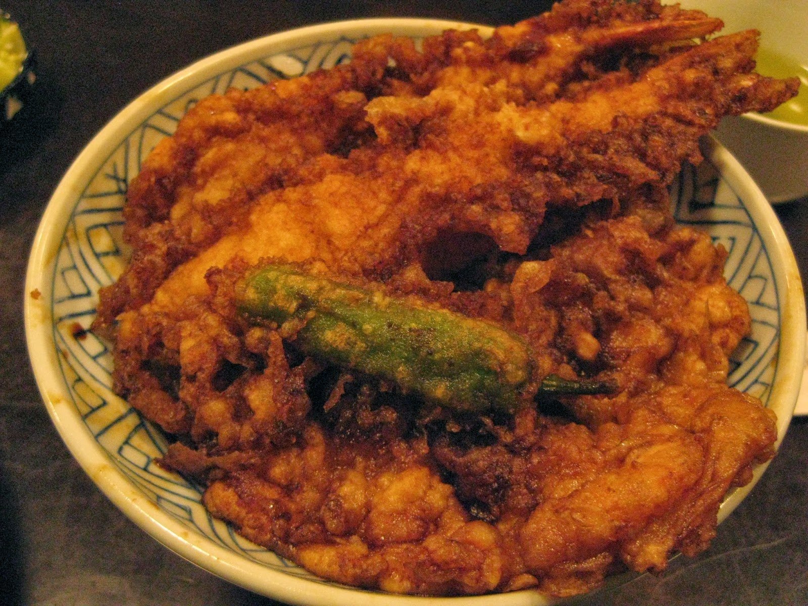 Tokyo - Tempura at Kaikokyua. It was tasty but I found it to be soggy.