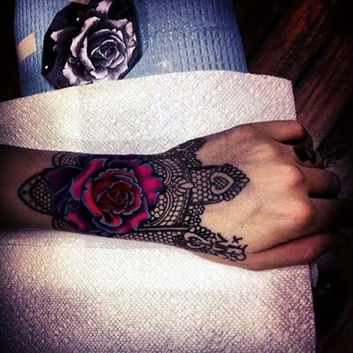 dantel dövmeleri lace tattoos 33