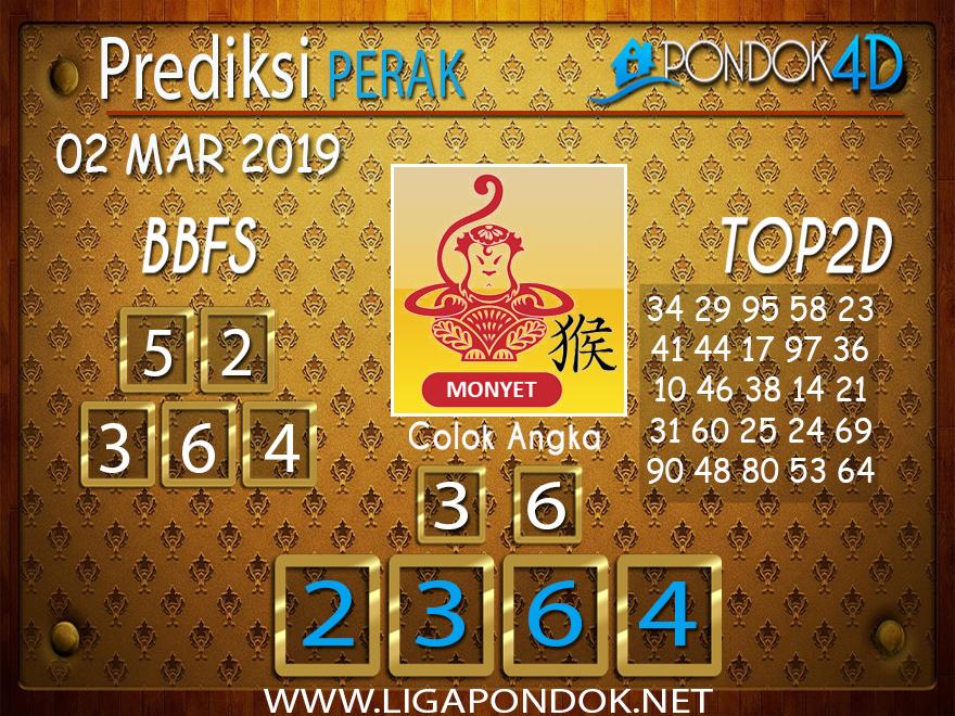 Prediksi Togel PERAK PONDOK4D 02 MARET 2019