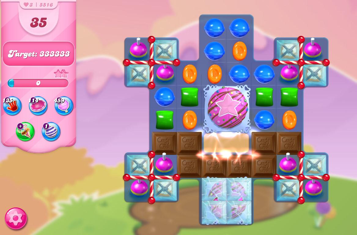 Candy Crush Saga level 5516