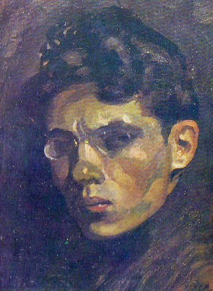 Manuel Cabré, Self Portrait, Portraits of Painters, Fine arts, Portraits of painters blog, Paintings of Manuel Cabré, Painter Manuel Cabré