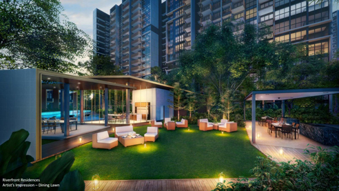 Riverfront Residences - Dining Lawn