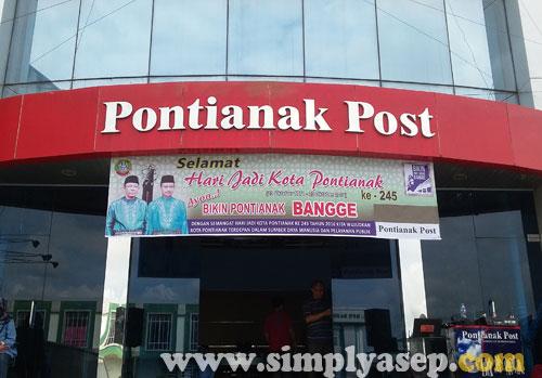 ORGANIZER : Pontiana Post menjadi penyelenggara utama (even organizer) serangkaian kegiatan HUT Kota Pontanak ke 245 Tahun. Foto Asep Haryono/www.simplyasep.com