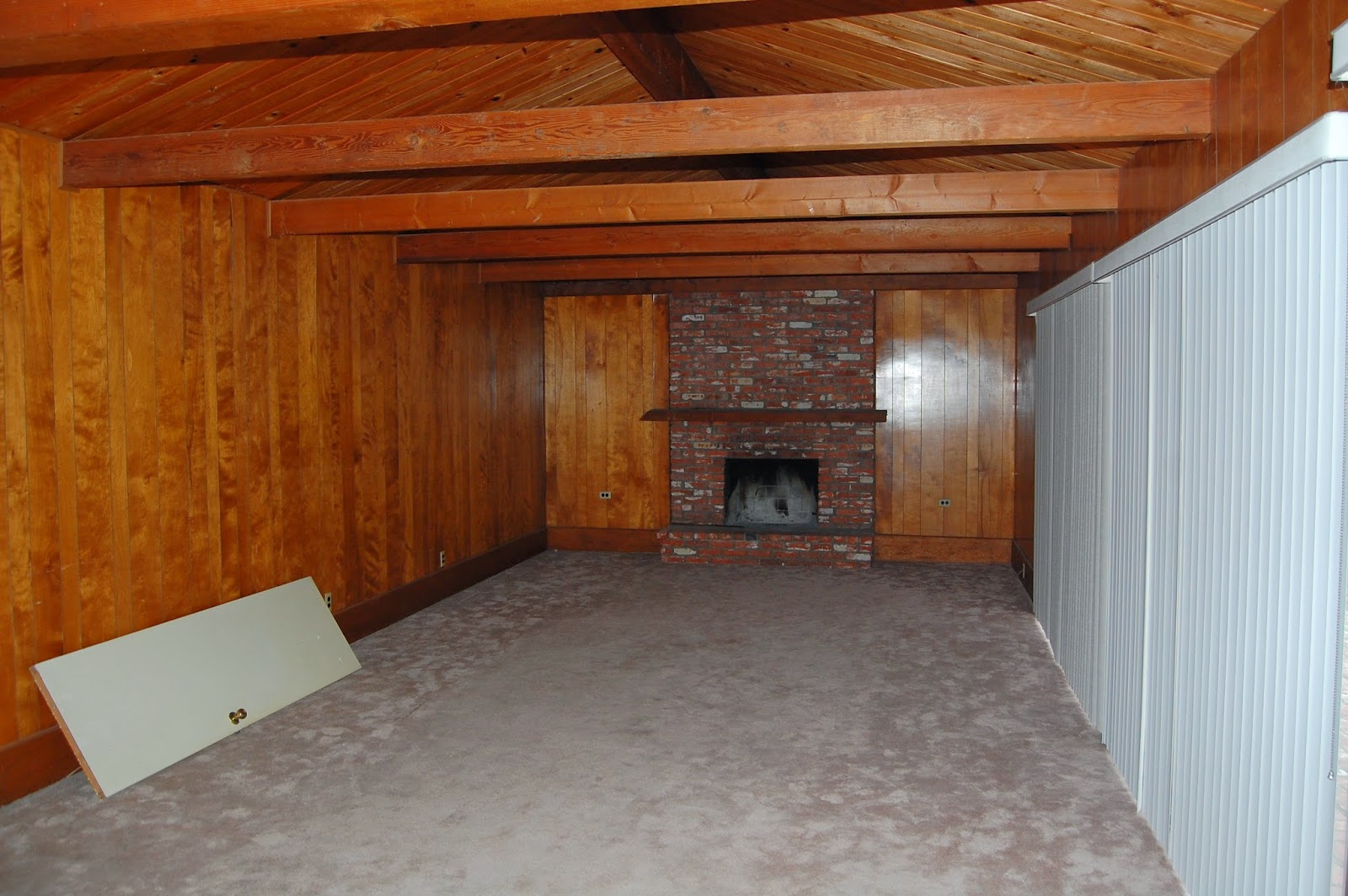 wood paneling CAD INTERIORS family room remodel