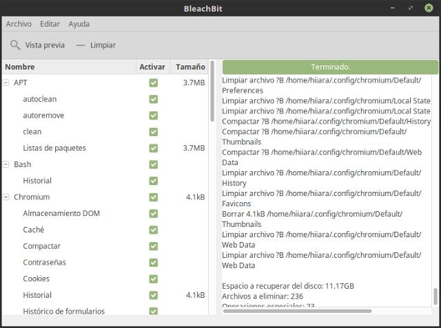 Instalación y configuración de BleachBit para GNU/Linux-El blog de HiiARA