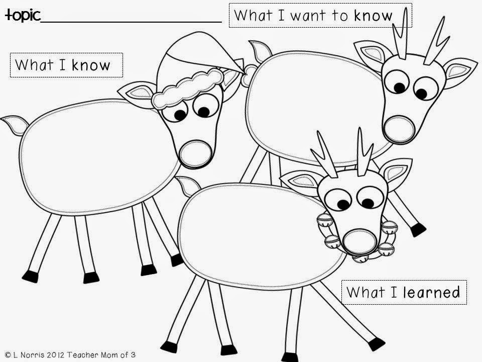 Teacher Mom of 3: Reindeer Reading: Informational Reading