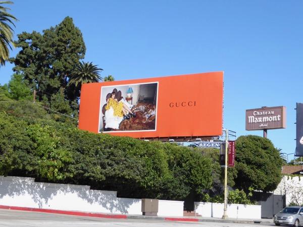 Gucci SS17 tiger billboard