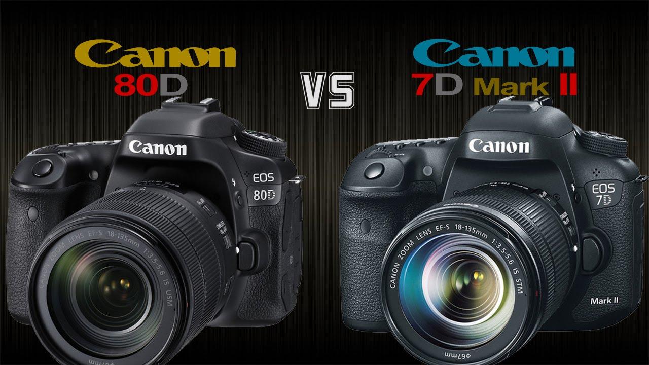 Canon EOS-7D Mark II vs EOS-80D Camera Comparison