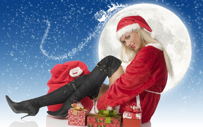 Hot Christmas girl photo HD download