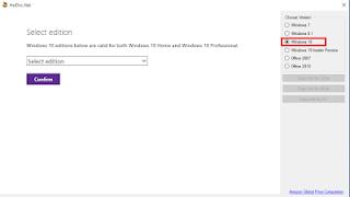 Download file ISO windows langsung dari Server Microsoft Tanpa Memasukan Product Key