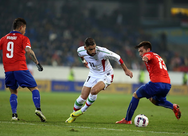 Irán y Chile en partido amistoso, 26 de marzo de 2015