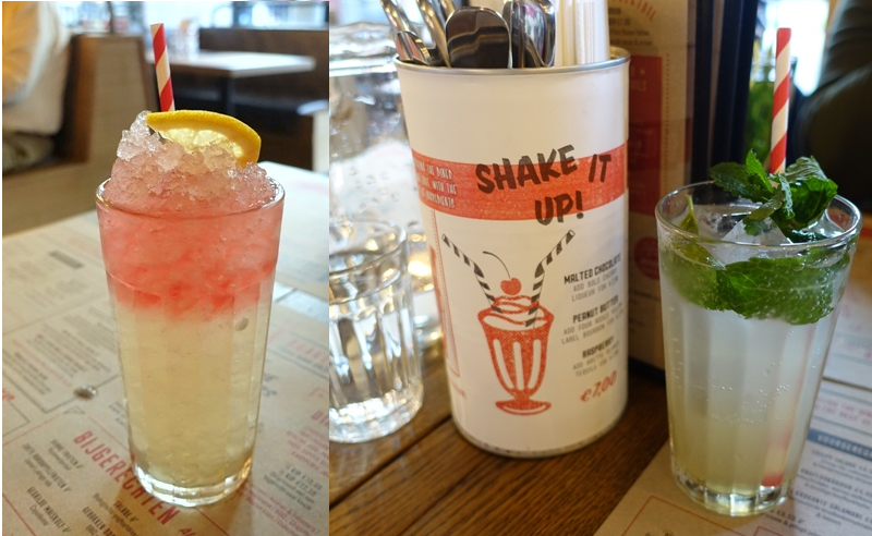 Jamie's Diner Rotterdam mocktails refresher apple & vanilla spritz
