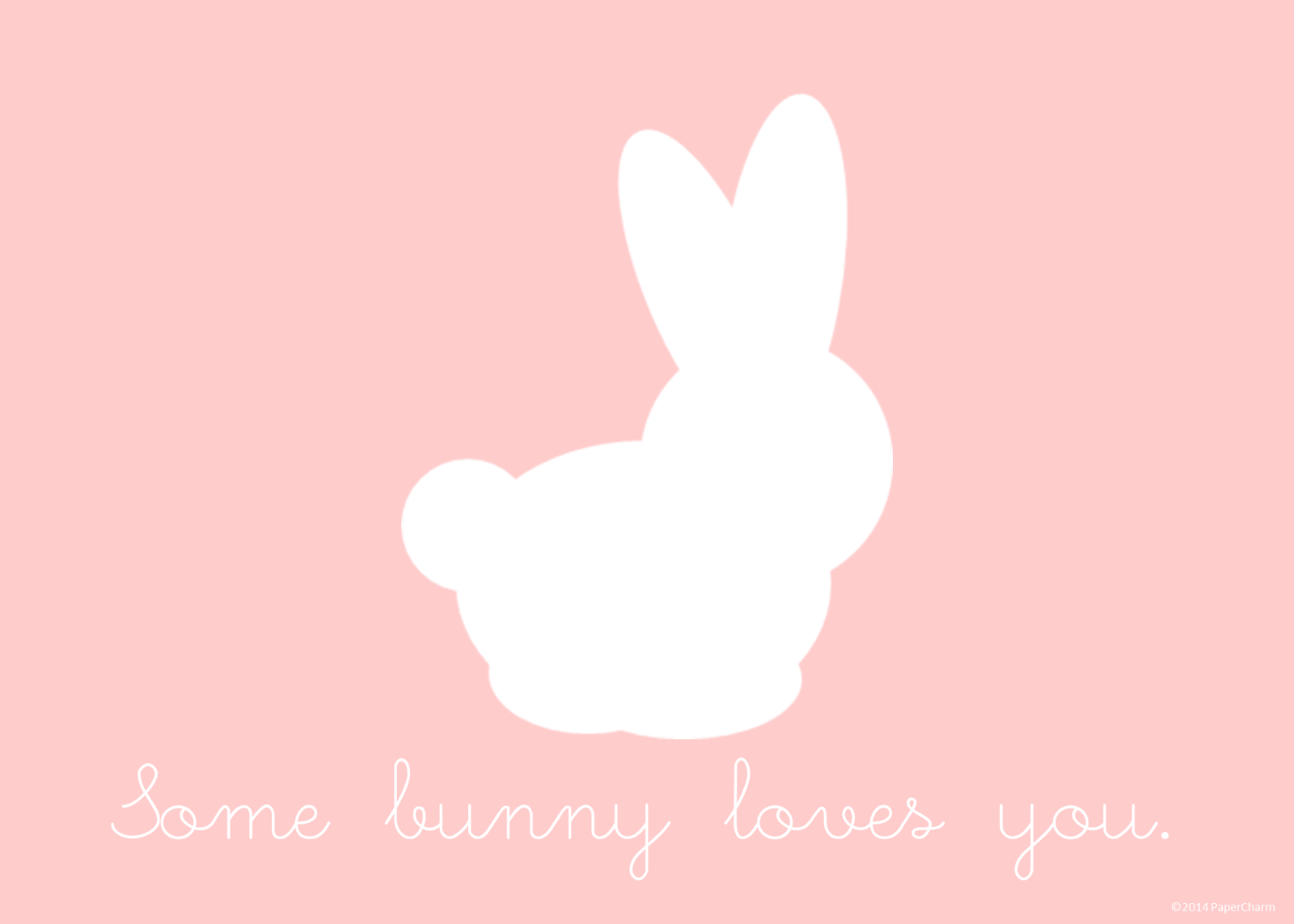 Papercharm Some Bunny Loves You Free Printable Art