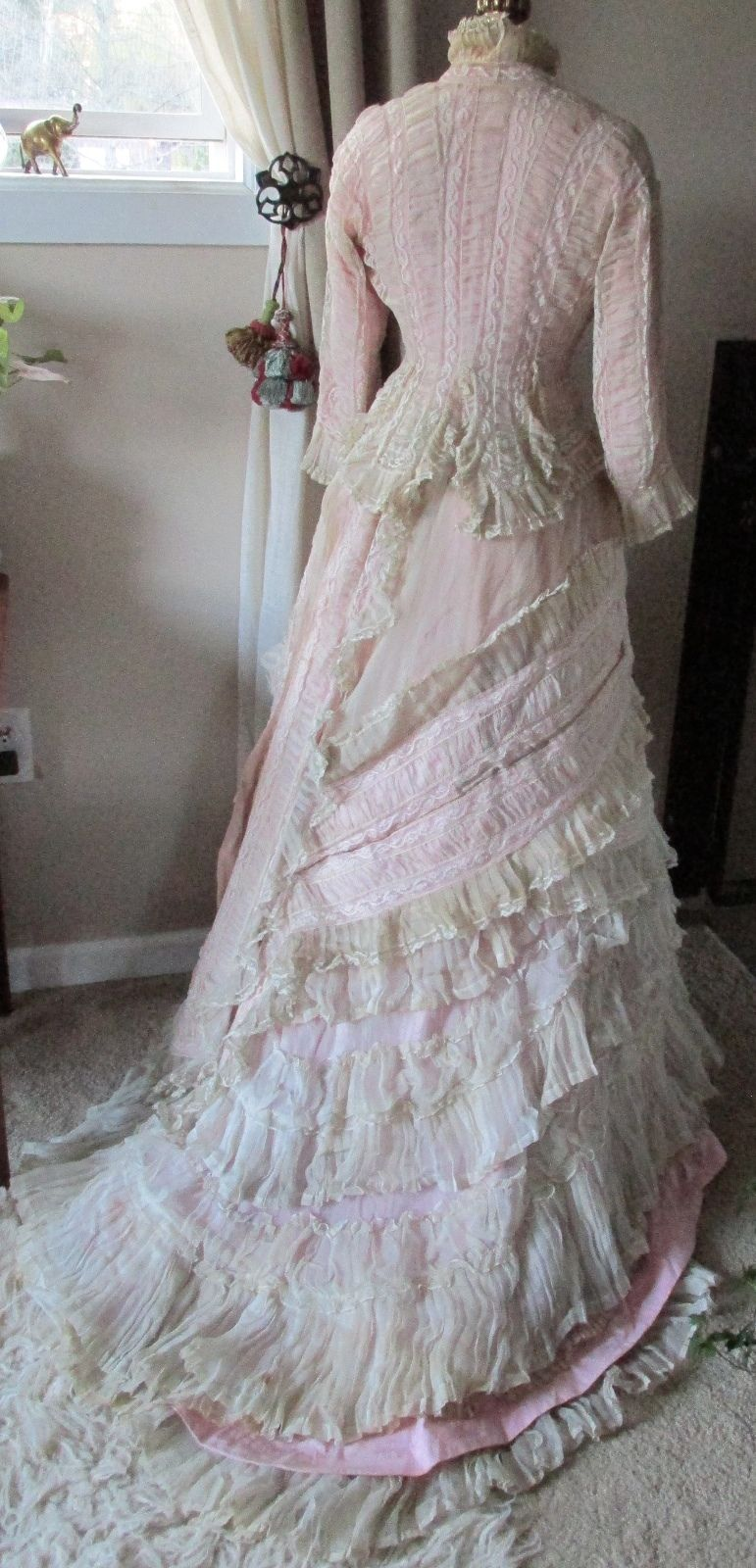 Ruched Cream 3pc Comforter Set Full Queen King Cal King: All The Pretty Dresses: Too Stunning Frothy Pink & White