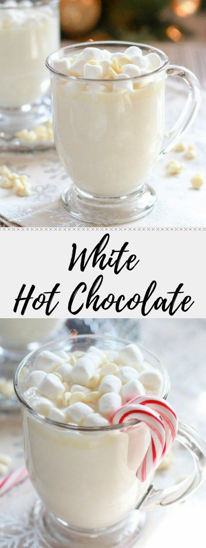 White Hot Chocolate #hotdrink #whitechoco