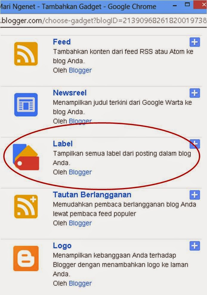 Cara Menambahkan Widget Label Pada Blog